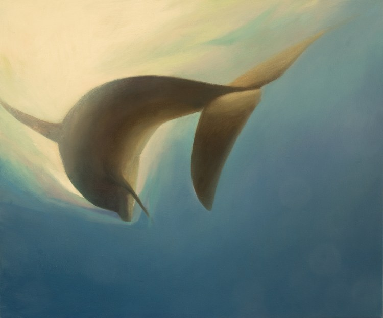 Oil painting of Tay Dolphin