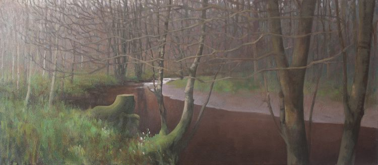painting landscape panorama - Den of Alyth