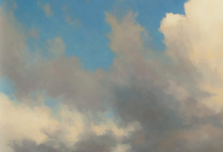 "Detail of oil painting - ""Cloudscape"""