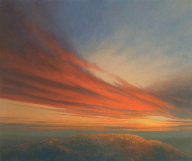 Sunset oil painting - Barry Hill