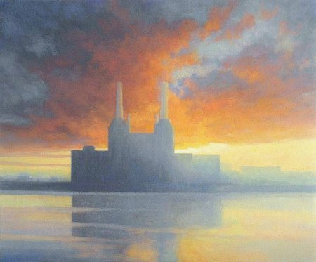 Townscape commission - Oil painting Battersea Power Station