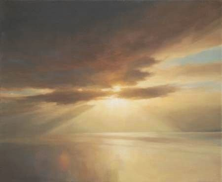Oil painting of suns rays - Breaking through