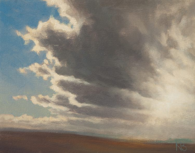Contemporary oil painting of clouds - Cloud Study 6