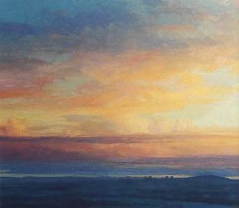 Contemporary Oil Painting, Dundee from Sidlaws- Scottish Landscape