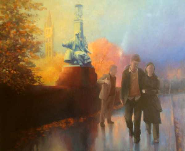 Painting commission -  Glasgow  - urban landscape