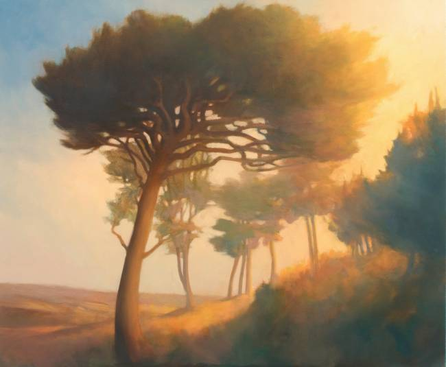 Painting of Trees  at Halliburton Hill