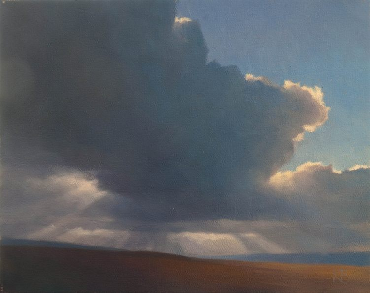 Contemporary skyscape painting of Clouds and Sky