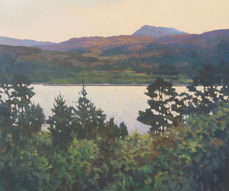Loch Sunart Contemporary landscape art - oil painting