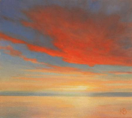Red Cloud - Sky painting of Sunset
