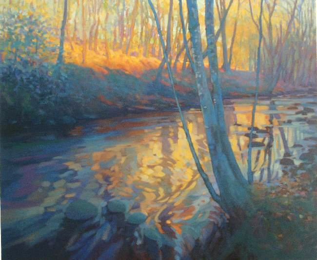 River Landscape - Oil Painting