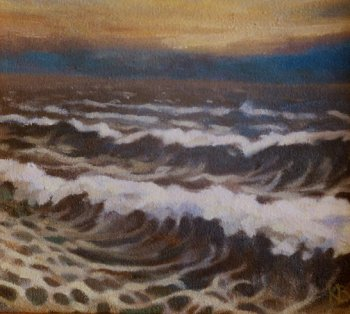 Oil sketch open air - Sketch for Rough Sea-