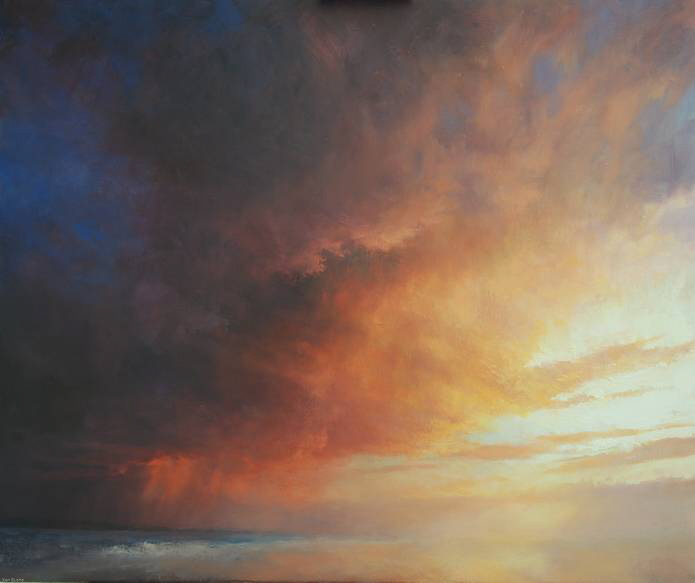 Oil Painting of Sunset