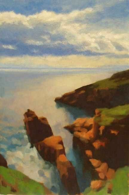 Seascape painting commission The De'ils Heid- Arbroath