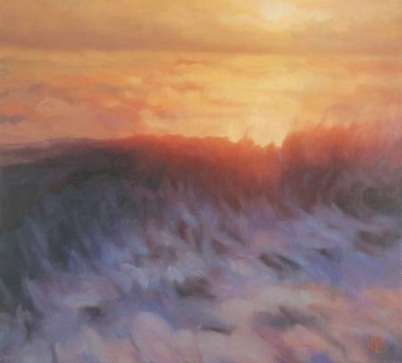 Contemporary Seascape - oil painting of wave