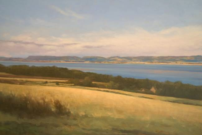 Oil painting commission Thornton Farm, near Balmarino Fife