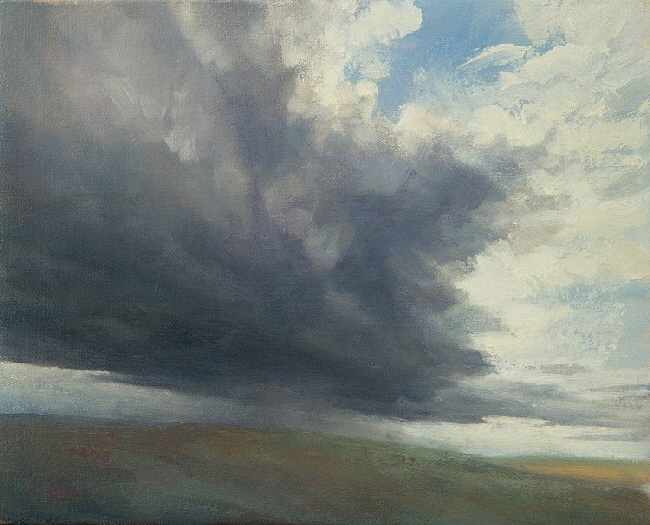Cloud Painting - Outdoor oil painting of sky
