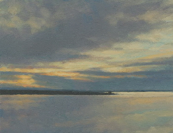 Contemporary Seascapes - Eastern Sky, Contemporary Oil Painting