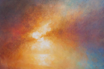 Sunset Sky paintings - Study of Sunset - oil landscape painting on canvas