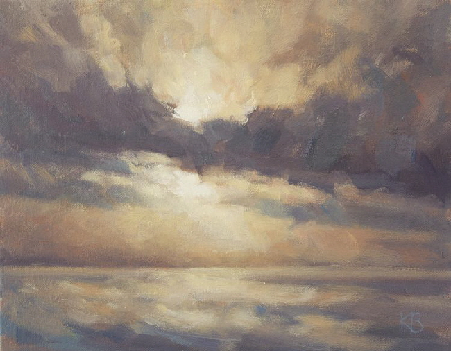 River Tay Cloud Study  - cloud  oil painting