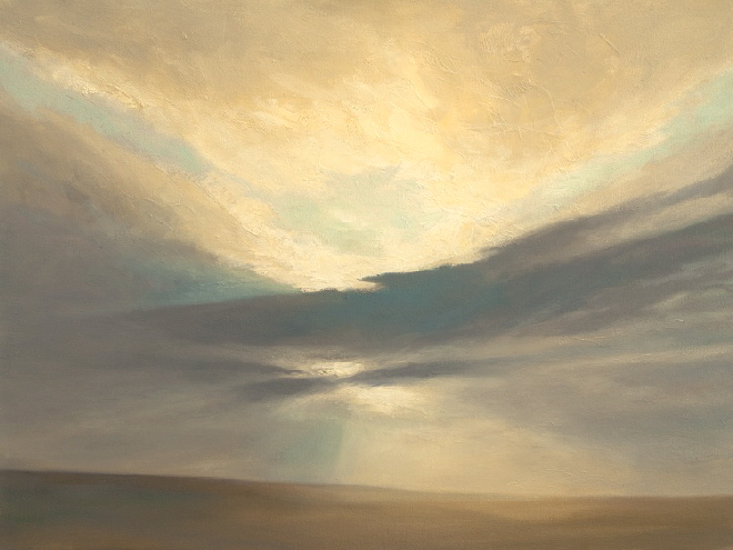 Sky Painting . Oil painting of September  Sky