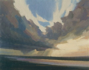 Oil painting sketch of sky and cloud - Sky over the Tay