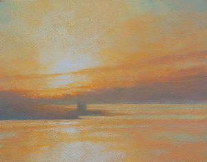 Oil painting of sunrise - Sunrise 17th May