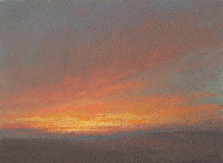 Oil Sketch of Sunset-750x549