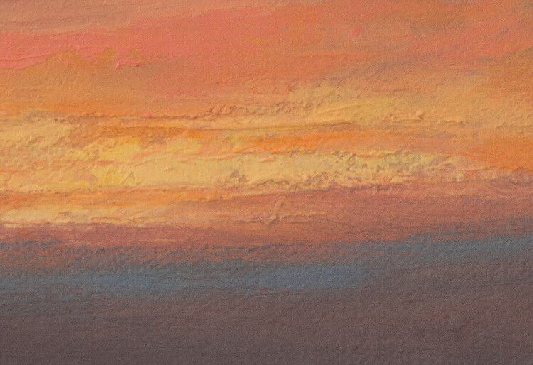 Oil Sketch of Sunset detail-750x514