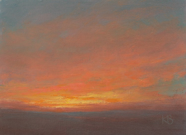 Oil study of Sunset-750x546