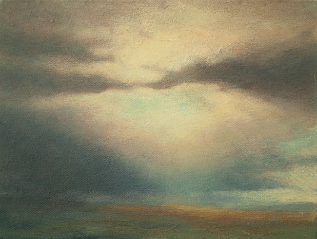 The Touch  Oil painting on Canvas of Sky and clouds